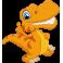Sticker dinosaure orange