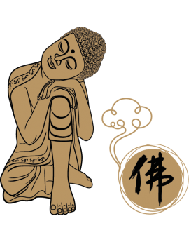 Sticker zen bouddha