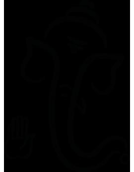 Sticker éléphant zen
