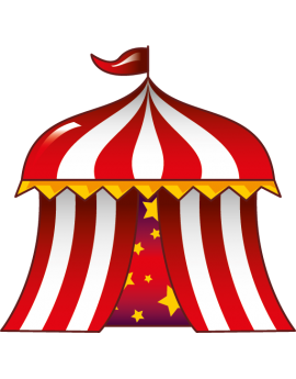 Sticker cirque chapiteau rouge
