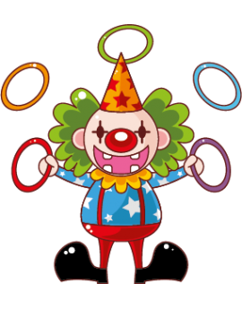 Sticker cirque clown qui jongle