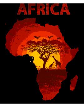 Stickers pays afrique arbre girafe