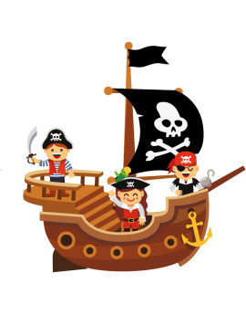 Stickers pirate garçon couleur