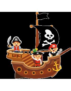 Stickers pirate garçon couleur