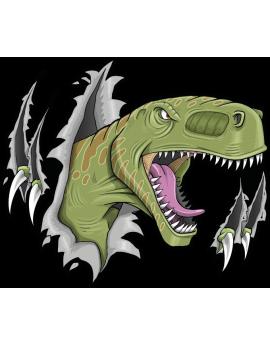 Stickers dinosaure méchant enfant