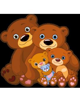 Stickers ourson marron enfant