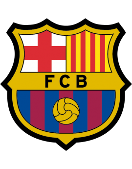 Stickers logo foot fc Barcelone