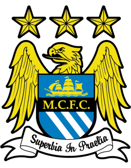 Stickers logo foot Manchester city