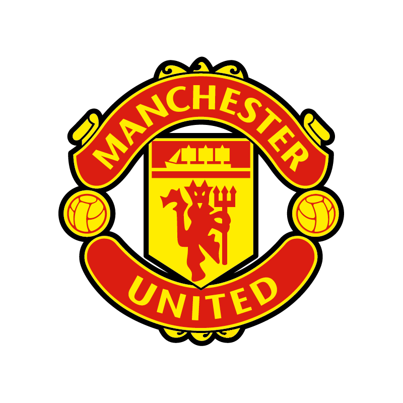 stickers logo foot manchester united colorstickers