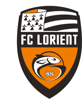 Stickers logo foot  FC Lorient