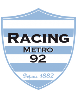 Stickers logo rugby racing Metro