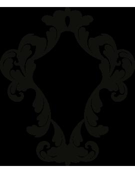 Stickers cadre forme Baroque