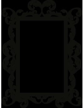 Stickers cadre Baroque rectangle format portrait