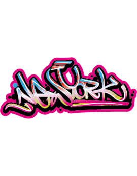 Stickers ado graffiti New York