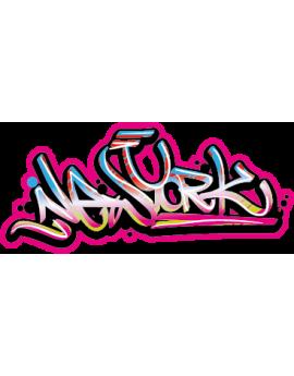 Stickers ado graffiti New York