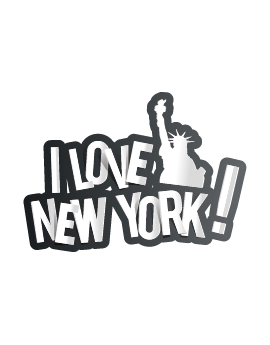 Stickers I love New York statue liberté