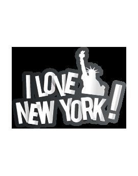 Stickers I love New York statue liberté