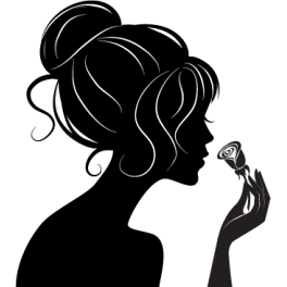 Stickers femme rose mode chignon