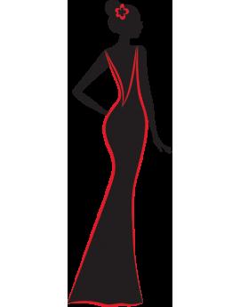 Stickers femme robe de soirée
