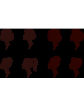 Kit stickers tête femme coiffure chignon