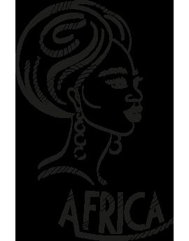 Stickers tête de femme africaine
