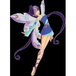 Stickers fée  bleu féerique magique fille