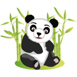 stickers panda bambou - Bambou Color