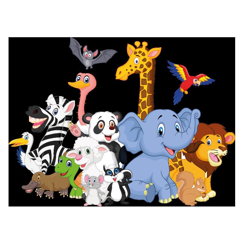 Stickers animaux de la jungle color stickers - Decoration animaux de la jungle ...