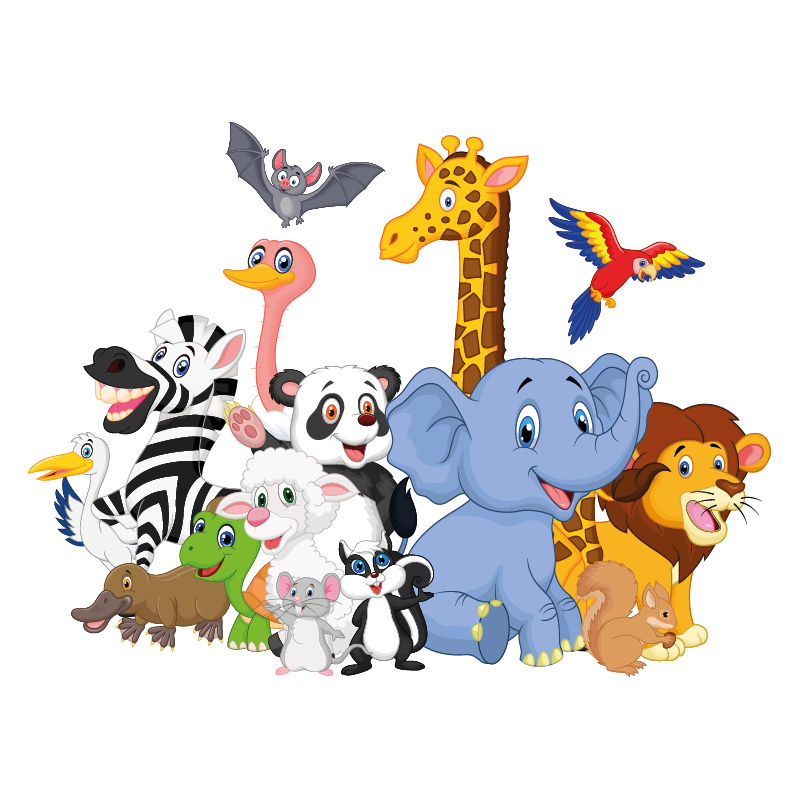 Stickers animaux de la jungle - Color-stickers
