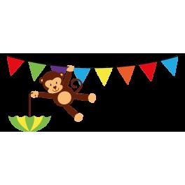 stickers bb singe acrobate parapluie - Parapluie Color