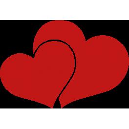 Stickers petit c ur dans gros c ur rouge color stickers - Gros coeur a imprimer ...