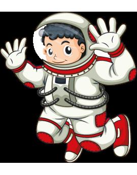 Stickers astronaute garçon