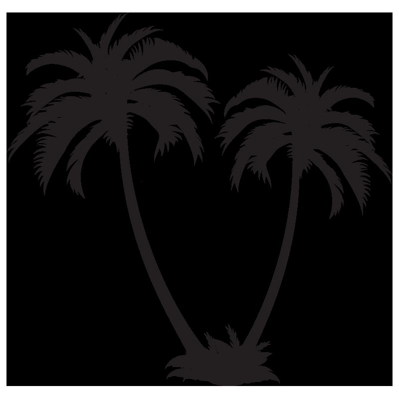 Stickers 2 palmiers color stickers - Palmier clipart ...