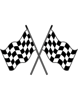 Stickers drapeau damier circuit