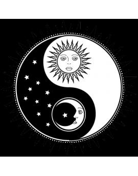 Stickers ying yang zen asie