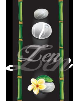Stickers bambou galet Zen