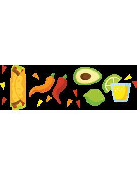 Stickers  kit aliments méxicain
