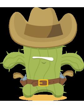 Stickers cactus cowboy
