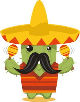 Stickers cactus mexicain maracasses