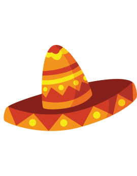 Stickers chapeau mexicain