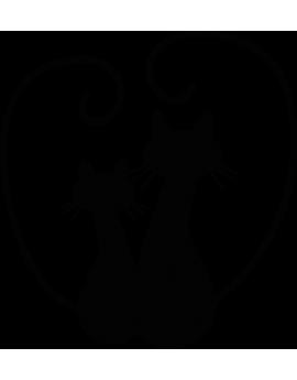 Stickers chats cœur