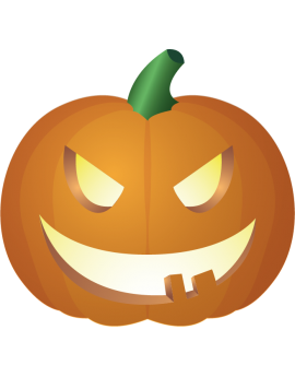 Stickers citrouille haloween