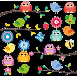 Stickers Kit oiseaux sur branches