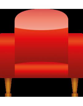 Stickers fauteuil rouge cinéma