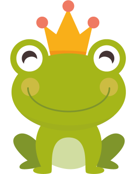 Stickers grenouille enfant couronne