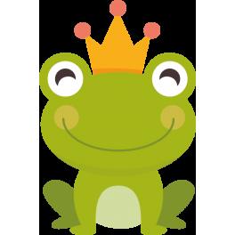Grenouille Couronne stickers grenouille enfant couronne - color-stickers