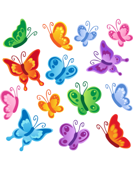 Stickers kit papillons enfant