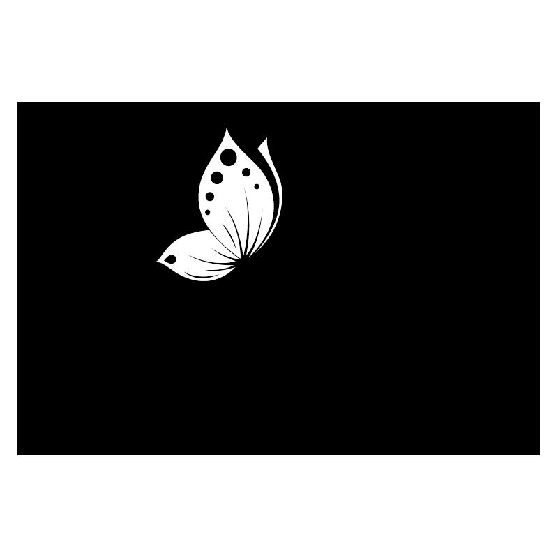 stickers papillon arabesque