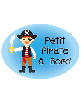 Stickers petit pirate à bord
