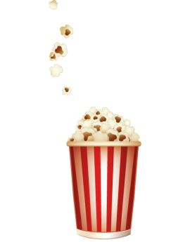 Stickers verre pop corn